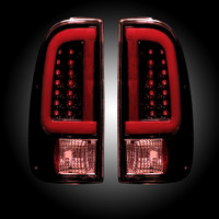 2008 - 2016 Recon Dark Red Smoked LED Tail Lights