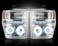 2008 - 2010 Ford Recon Clear Projector Headlight with CCFL Halos