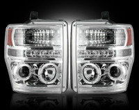 2008 - 2010 Ford Recon Clear Projector Headlight with LED Halos