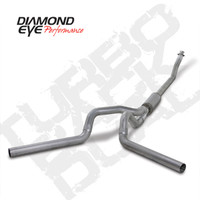 "Diamond Eye 4"" Turbo Back Duals Aluminized Exhaust 1994-2002 5.9"
