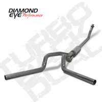 "Diamond Eye 4"" Turbo Back Duals Stainless Exhaust 1994-2002 5.9"