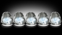 Recon Clear LED Cab Light White Kit Dodge Ram 2003-2016