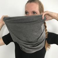 Gray Jersey Oversized Infinity Scarf