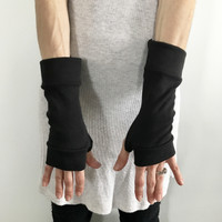 Black Wrist Length Eczema Gloves
