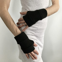 Short Black Fleece Hand Warmers