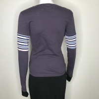 Purple Patchwork Striped Long Sleeve Shirt - Medium