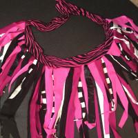 Handmade Pink Zebra Print Wrap Skirt - One Size