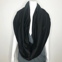 Heavy Black Fleece Infinity Scarf