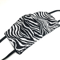 Reversible Zebra & Black Cotton Face Mask