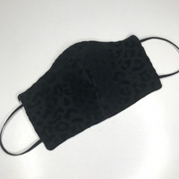 Reversible Black Cheetah & Zebra Reusable Face Mask
