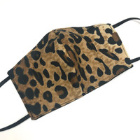 Adult Brown Cheetah Print Face Mask