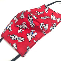 Adult Red Dalmatian Dog Cotton Face Mask