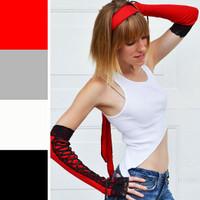 Red Cotton Long Headband
