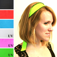 Neon Green Blacklight Reactive Headband
