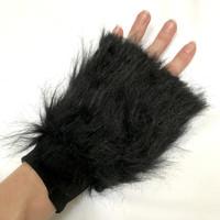 Black Monster Fur Arm Cuffs