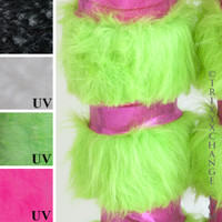 Green Fur with Pink Metallic.