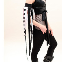 Eco Friendly Black Fringe Arm Cuff