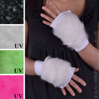 White Fur Gloves