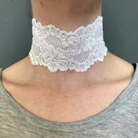 Handmade White Lace Choker