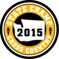 2015 State Champ Cross Country Patch