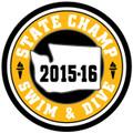 WIAA State Swim & Dive Champ Patch 2015-16