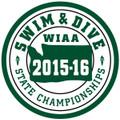 WIAA State  Swim & Dive Patch 2015-16