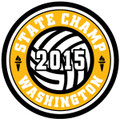 State Champ Volleyball Patch 2015