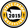 WIAA 2016 Wrestling Champ Patch