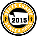 State Dance & Drill 2015 Champ Patch