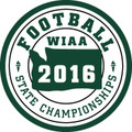 WIAA State Football Patch 2016