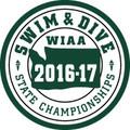 WIAA State Swim & Dive Patch 2016-17