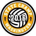 State Volleyball 2016 Champ Patch