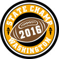 State Football 2016 Champ Patch