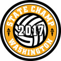 State Volleyball 2017 Champ Patch