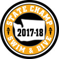 State Swim & Dive 2017-18 Champ Patch