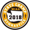 State Gymnastics 2018 Champ Patch