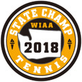 State Tennis 2018 Champ Patch
