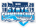 WIAA State Swim & Dive Pin 2018-19