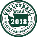 WIAA 2018 State Volleyball Patch