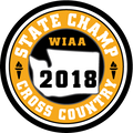 2018 State Champion Cross Country Patch