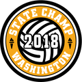 2018 Volleyball State Champs Patch