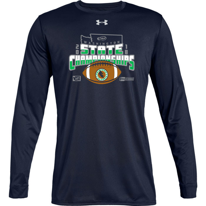 2c97daf6a92 WIAA 2018 State Football Under Amour Long Sleeve - Navy ...