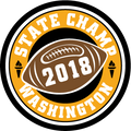 2018 WIAA State Football CHAMPS PATCH
