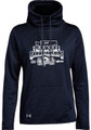WIAA 201 State Cheer Under Armour Ladies Funnel Neck Fleece- Navy