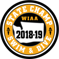 WIAA 2019 State Champion Swim & Dive Patch