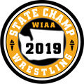 WIAA 2019 State Champion Wrestling Patch