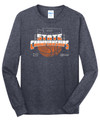 WIAA State 2019 Basketball Long Sleeve T- Heathered Navy