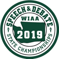WIAA 2019 State Speech and Debate Patch