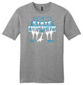 WIAA State 2019 Dance and Drill Short Sleeve Tee- Gray Frost
