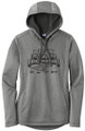 WIAA 2019 State Track & Field Ladies Posicharge Hoodie- Black Heather